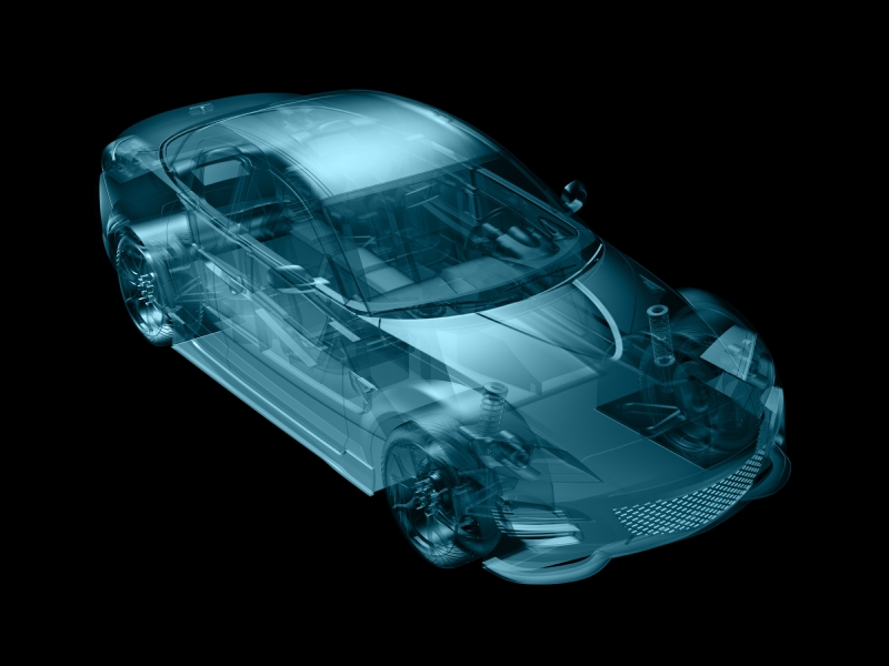 car in abstract structure style,created in 3d software.